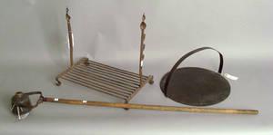 Wrought iron fireplace rack