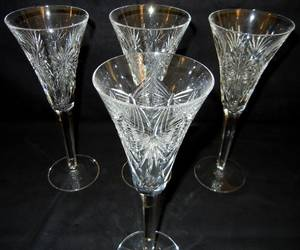 022381 WATERFORD CUT CRYSTAL WINE GLASSES H 9