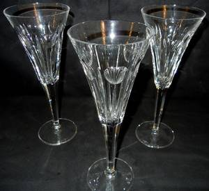 022380 WATERFORD CUT CRYSTAL WINE GLASSES H 9