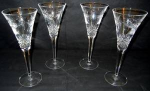 022379 WATERFORD CUT CRYSTAL WINE GLASSES H 9