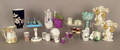Misc tableware to include a miniature Bavarian grape form tea set and a Royal Copenhagen vase Provenance The Estate of Anne Brossman Sweigart