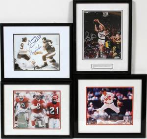 AUTOGRAPHED COLOR AND BLACK AND WHITE PHOTOS
