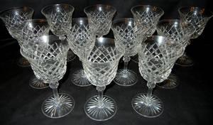 020429 CRYSTAL WINE GLASSES 12 H 7