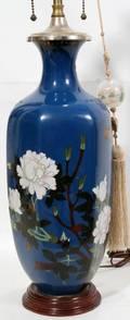 011529 JAPANESE CLOISONN LAMP C 1920 H 14 27