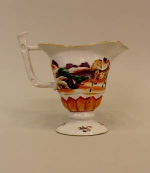 Chinese Export Porcelain Footed Helmet Creamer