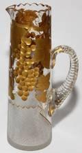 CUT GLASS EWER 19TH C H 11 12