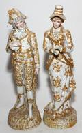 CONTINENTAL BISQUE FIGURES LATE 19TH C PAIR H 17 3