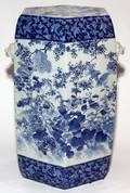 CHINESE BLUE  WHITE PORCELAIN GARDEN SEAT H 20 12
