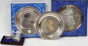 122467 STERLING COMMEMORATIVE PLATES  JAPANESE FIGURE