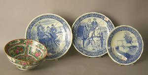 Three Boch Delft chargers
