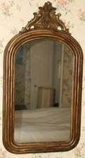 011591 VICTORIAN PAINTED MIRROR LATE 19TH C 39 X