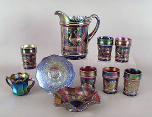 Group of carnival glass Provenance The Estate of Anne Brossman Sweigart
