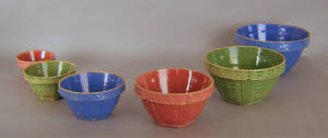 Set of 6 nesting mixing bowls Provenance The Estate of Anne Brossman Sweigart
