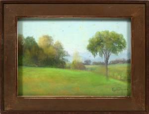 KATE LEAH COTHARIN PASTEL LANDSCAPE 1914 7 X