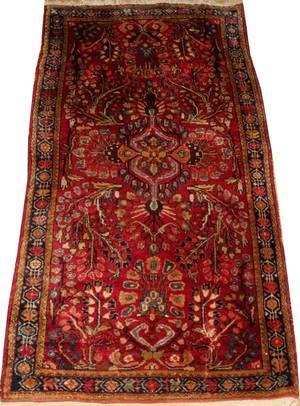 SAROUK PERSIAN ORIENTAL RUG 410 X 26 AS IS