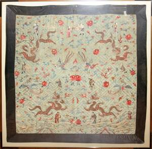031051 CHINESE SILK EMBROIDERY TAPESTRY ANTIQUE 71
