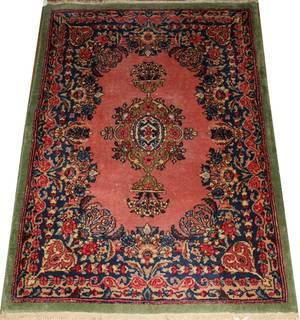 021038 KERMAN PERSIAN ORIENTAL RUG C 1940 4 0 X