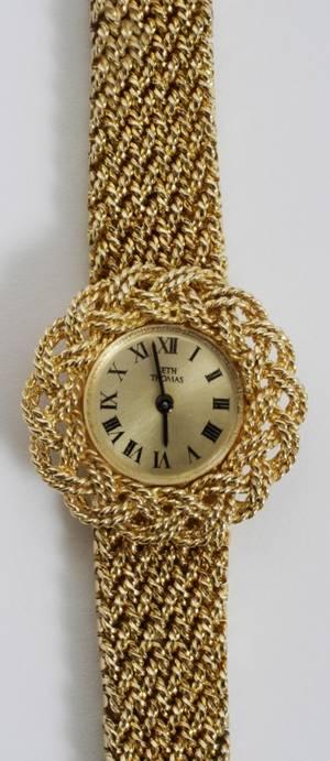 020014 SETH THOMAS 14 KT YELLOW GOLD WRIST WATCH L 7