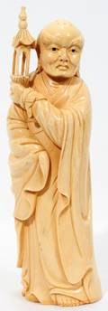 020006 CHINESE CARVED IVORY FIGURE H 10