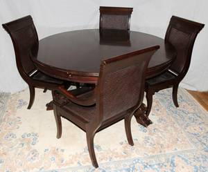 020029 STANLEY FURNITURE CO DINING ROOM TABLE  CHAIRS