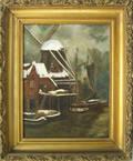 Oil on canvas scene