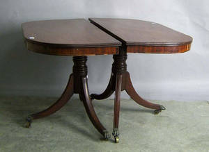 Federal style mahogany 2part dining table