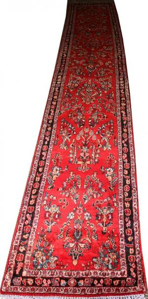 122054 SAROUK PERSIAN WOOL RUNNER 15 X 2 9