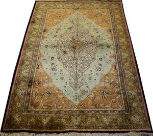 121050 QUM PERSIAN PURE SILK RUG 5 7 X 3 7