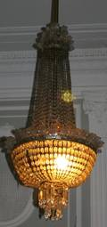 052080 CRYSTAL DOME STYLE TEN LIGHT CHANDELIERS THREE
