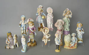 Twelve bisque figures Provenance The Estate of Anne Brossman Sweigart
