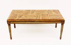 Louis XVI Style Onyx Coffee Table
