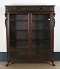 Victorian carved mahogany bookcase