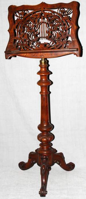 061123 VICTORIAN CARVED ROSEWOOD MUSIC STAND