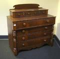 New England Sheraton mahogany dresser