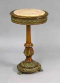 Marble top stand with ormolu mounts
