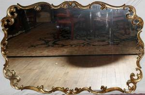 040068 FRENCH STYLE GILT MIRROR H 38 W 58
