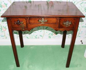 071137 ENGLISH MAHOGANY DRESSING TABLE 19TH C H 27
