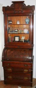 042144 ANTIQUE RENAISSANCE REVIVAL SECRETARY DESK