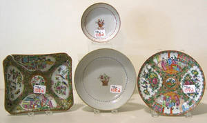 Four pcs of Chinese export porcelain