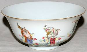 061235 CHINESE FAMILLE ROSE PORCELAIN BOWL H 3 14