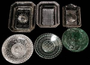 061201 AMERICAN GLASS PLATES  DISHES EARLY 19TH C