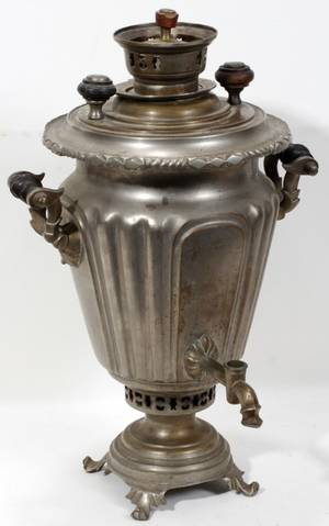 082140 RUSSIAN METAL SAMOVAR C 1900 H 19 W 12