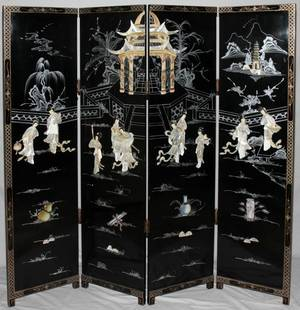 081221 CHINESE LACQUER  MOTHEROFPEARL SCREEN H 72