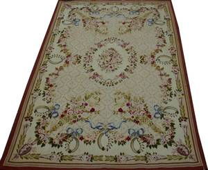 072151 AUBUSSON STYLE WOOL HANDWOVEN RUG 9 0 X