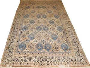 050170 PERSIAN NAIN WOOL RUG MID 20TH CENTURY 93