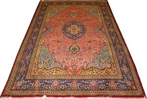 050168 PERSIAN TABRIZ WOOL  SILK RUG 96 X 64