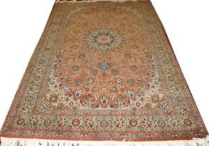 050167 PERSIAN TABRIZ WOOL RUG 98 X 66