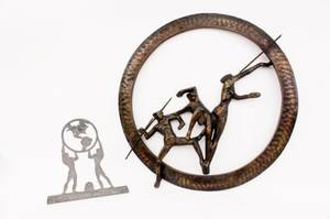 Two Olympics Figural Metal Items