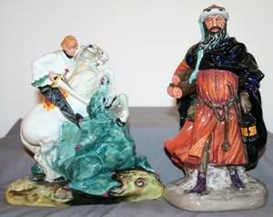 040165 ROYAL DOULTON PORCELAIN ST GEORGE AND