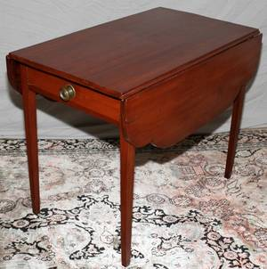090254 19TH CENTURY AMERICAN MAHOGANY PEMBROKE TABLE